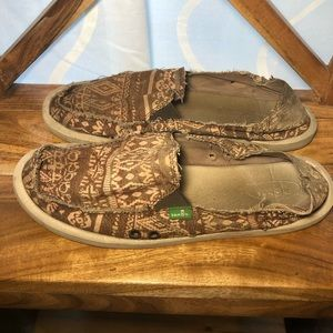 Gently worn Sanuk's